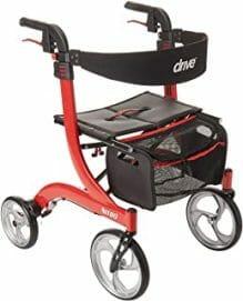 types of walkers - Four Wheel Rollators