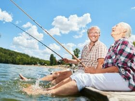 senior hobbies include fishing