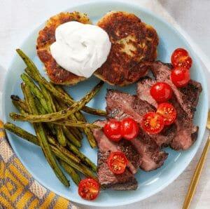 Blue Apron Seared Steaks & Green Beans