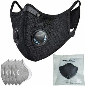 Dust mask with filter