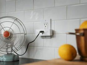smart plug on a fan