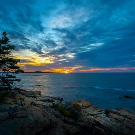 acadia national park sunset