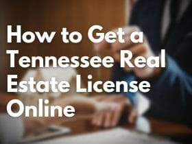 how to get a tennessee real estate license