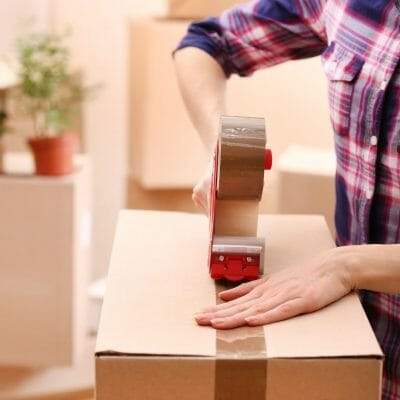 decluttering and packing when moving